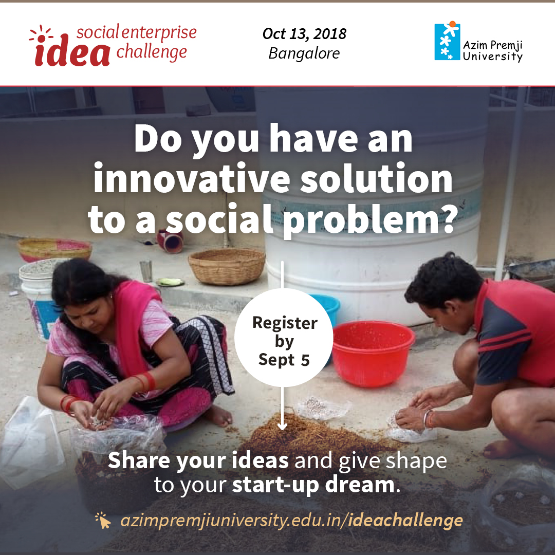 Social Enterprise Idea Challenge 2018