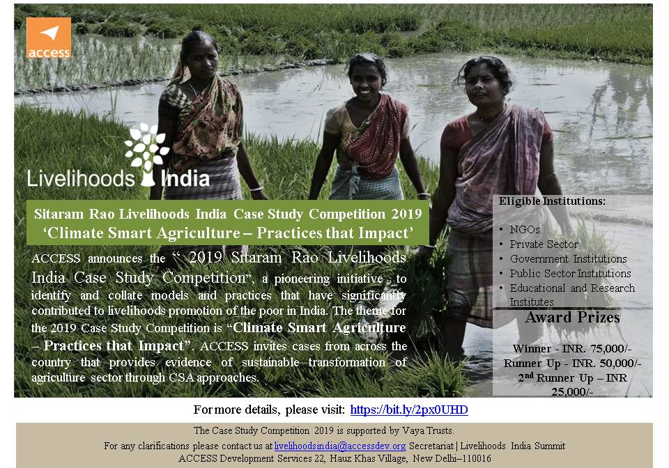 Sitaram Rao Livelihoods India Case Study Competition- Climate-Smart Agriculture Practices that Impact