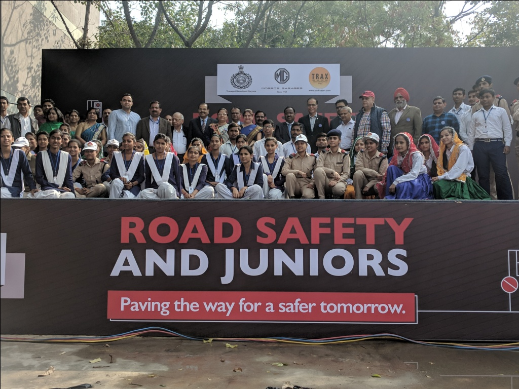 MG Motor India, TRAX NGO collaborate with Haryana Govt for road safety programme