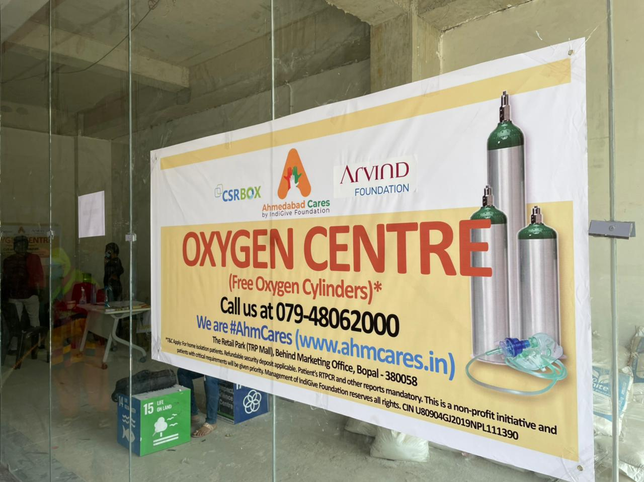 Oxygen Centre - an initiative by Arvind Foundation and CSRBOX for Helping Covid-19 Patients to Get Oxygen Cylinders