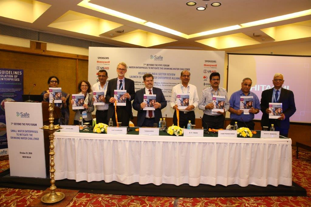 USAID Launches' small Water Enterprise' Alliance At safe Water Network's 7th beyond The Pipe Forum, New Delhi