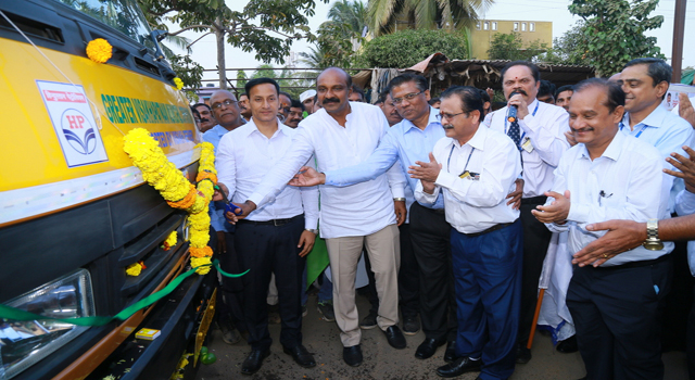 HPCL hands over 30 compactor bins to GVMC