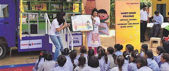 School kids learn about Clean India from Japan's Mottainai Grandma