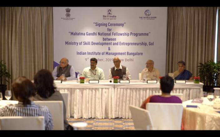 Ministry-of-Skill-Development-and-Entrepreneurship-launches-Mahatma-Gandhi-National-Fellowship-Programme-with-IIM-Bangalore