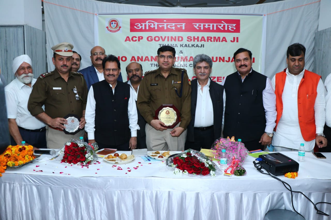 AAP-International-organizes-a-felicitation-programme-to-honour-ACP-Govind-Sharma-and-SHO-Anant-Kumar-for-their-unflinching-support-to-the-elderly-people