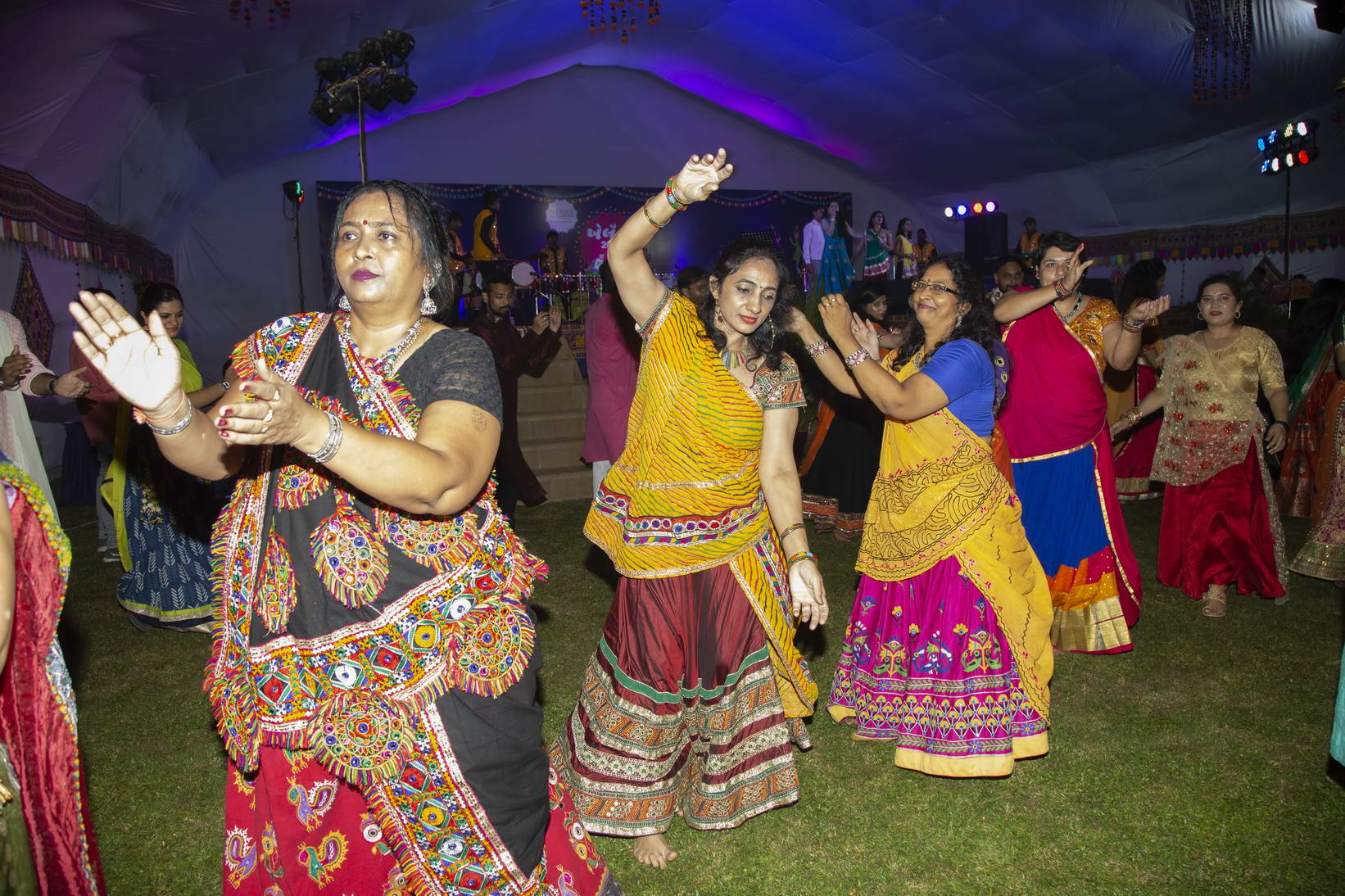 Navratri celebration with messages of social goodness