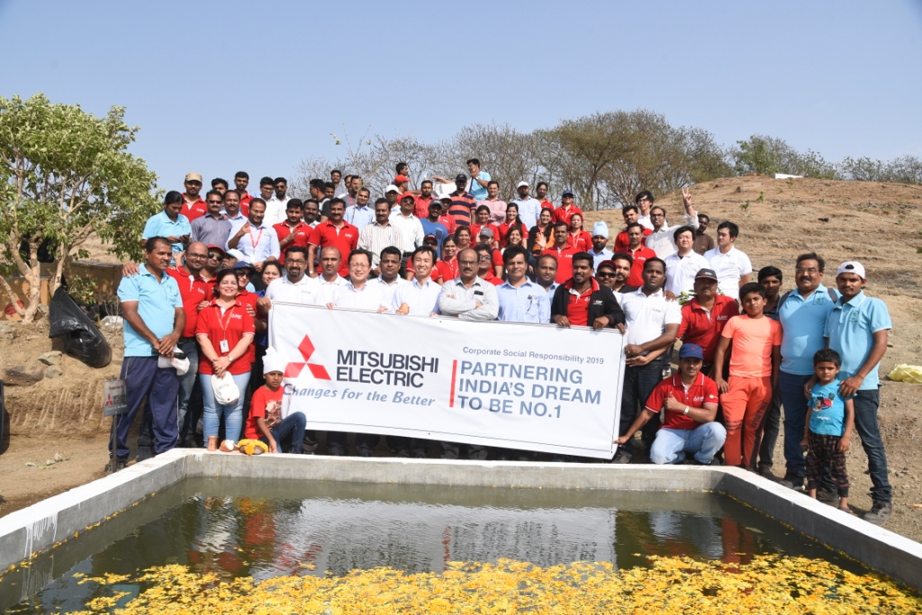 Mitsubishi Electric India commemorates World Environment Day by supporting afforestation of Baner Hills, Pune.