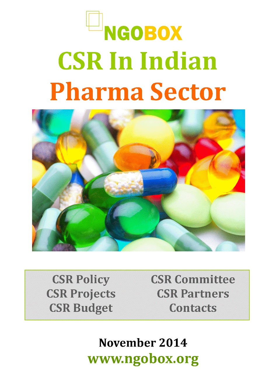 CSR in Indian Pharma Sector
