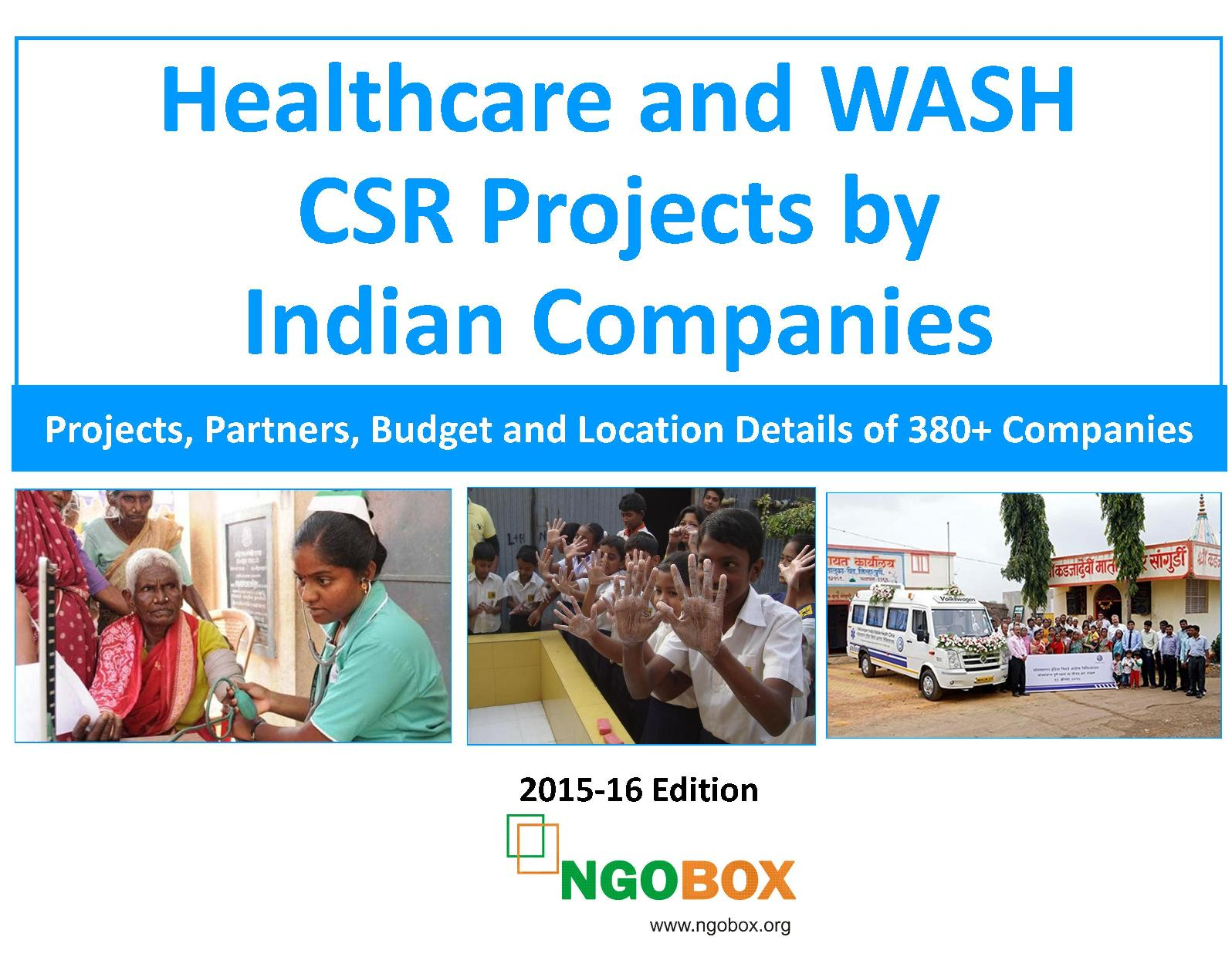 Healthcare and WASH CSR Projects by Indian Companies
