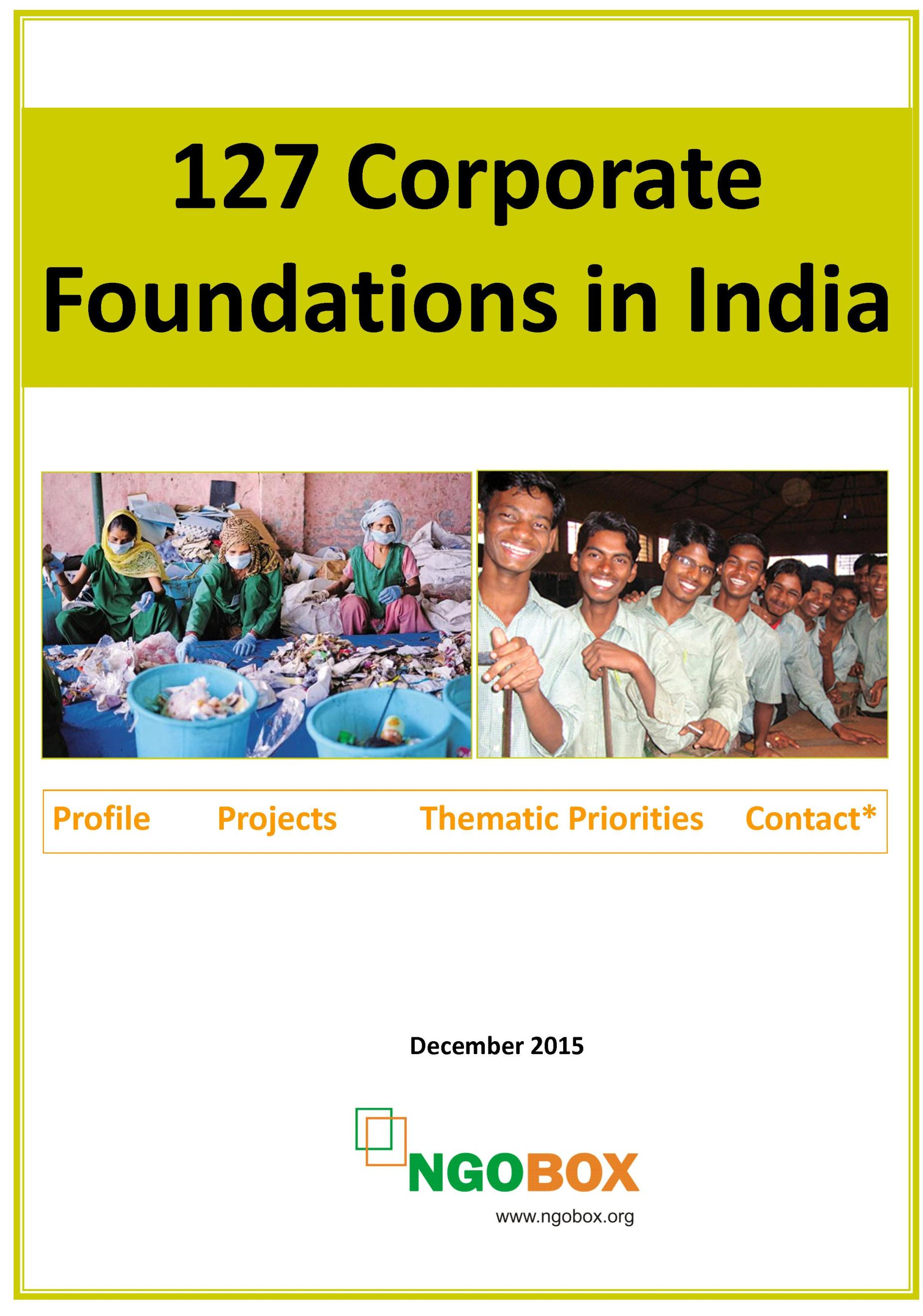 127 Corporate (CSR) Foundations in India