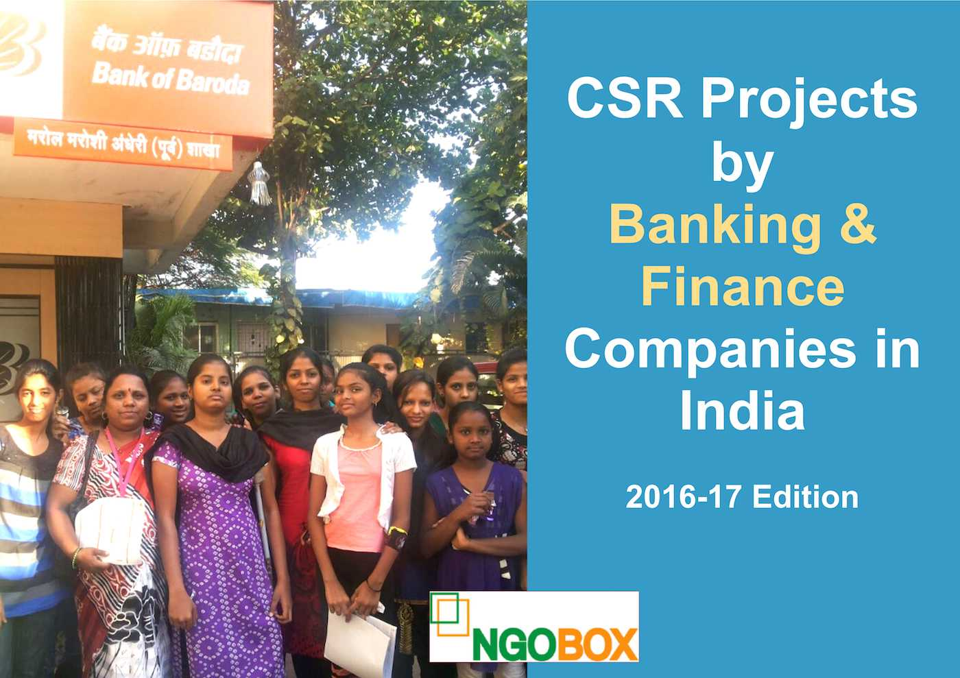 CSR Projects by Banking and Finance Companies in India