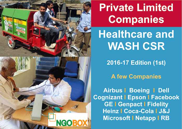 Healthcare and WASH CSR Projects by Private Ltd Companies
