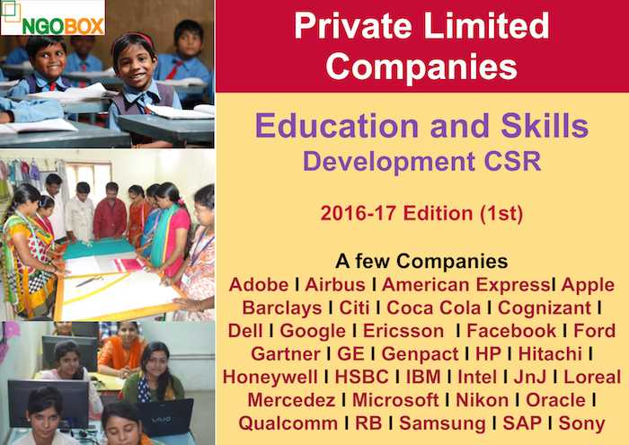 Education and Skills Development CSR Projects in Private Ltd Companies