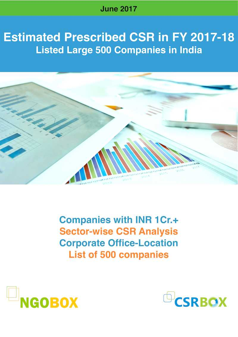 Estimated Prescribed CSR of Large 500 Companies in FY 2018 in India