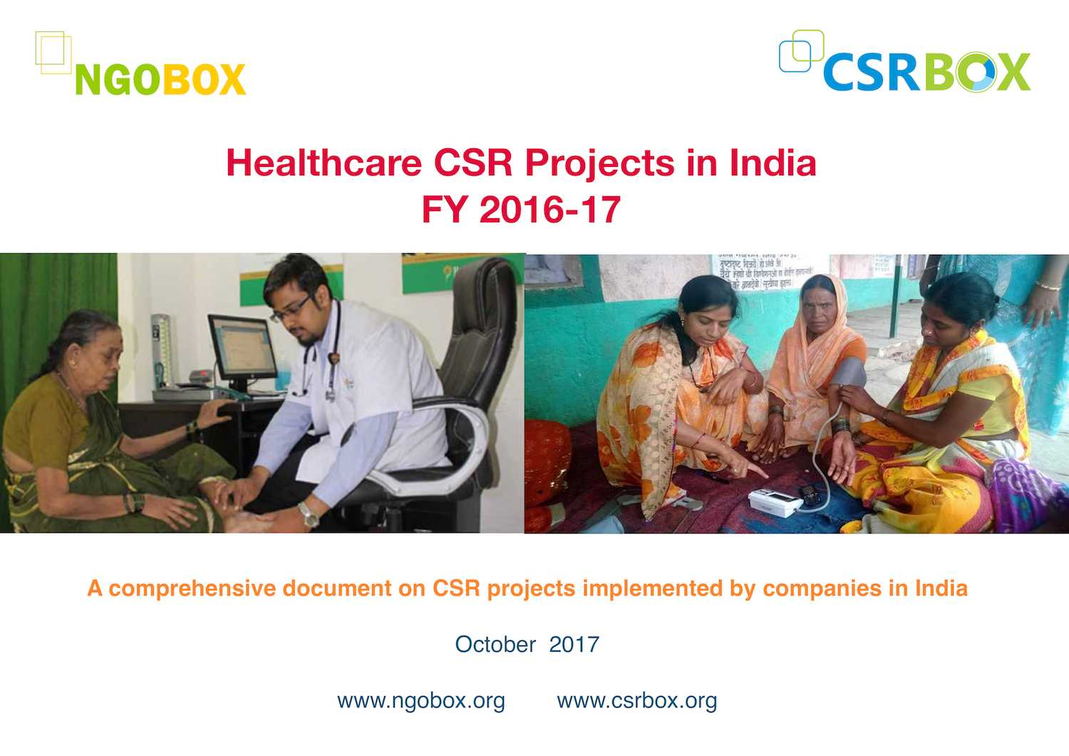 Healthcare CSR Projects in India in 2016-17