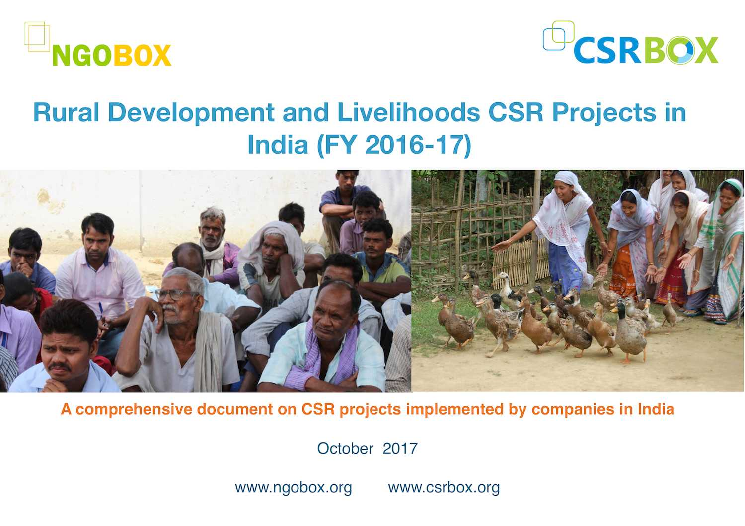 Rural Development and Livelihoods CSR Projects in India (FY 2016-17)