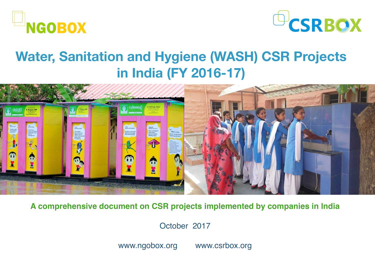 Water and Sanitation CSR Projects in India (FY 2016-17)
