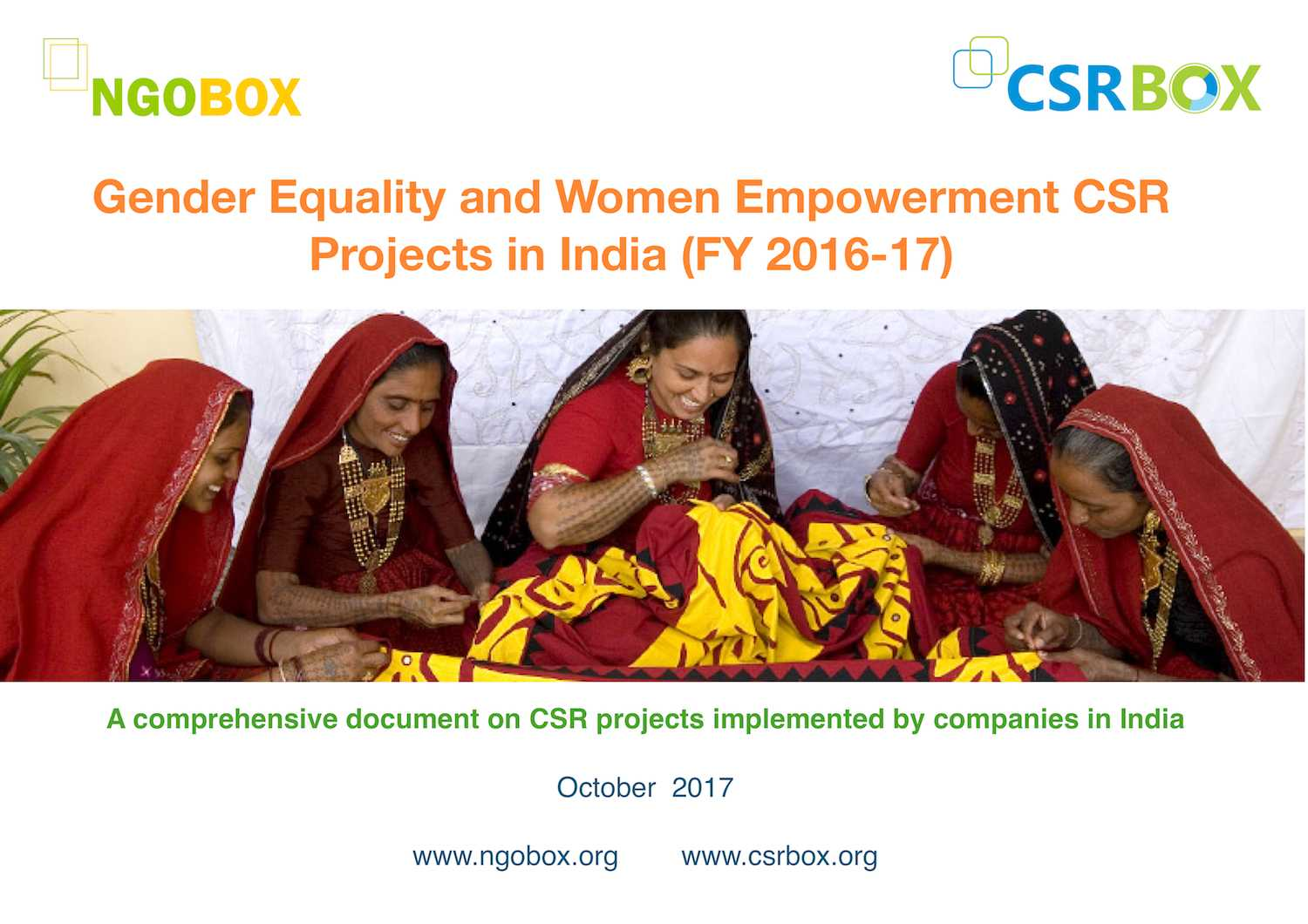 Women Empowerment CSR Projects in India (FY 2016-17)