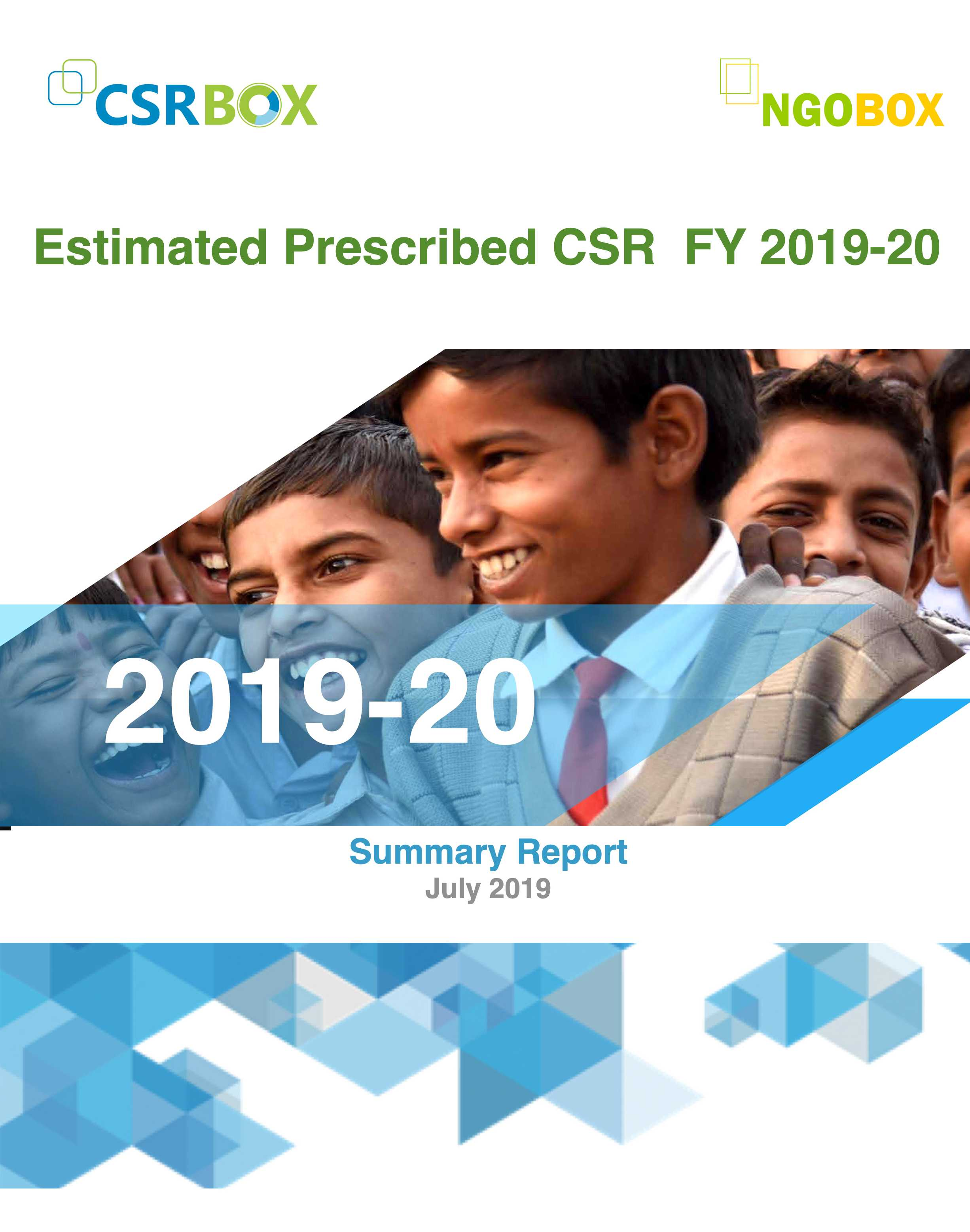 Estimated Prescribeid CSR of big 500 companies FY 2019-20