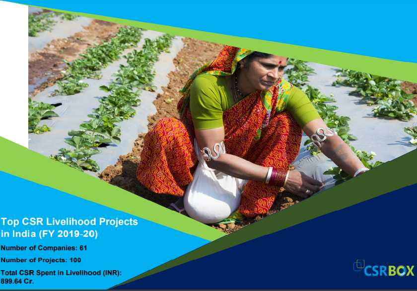 CSR Projects in Livelihood in India in FY 19-20 (New)